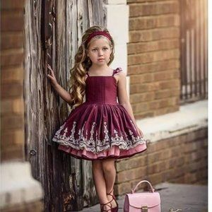 Dollcake Pretty as a Picture Burgandy & Lace Dress